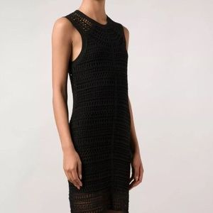 Theory Nirlee Sag Harbor Crochet Open-Knit Dress